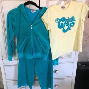 Juicy Couture Tracksuit with matching shirt